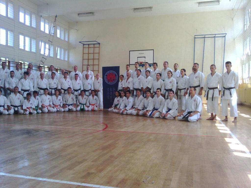 Učesnici karate seminara u Vrnjačkoj Banji